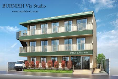 福祉施設 CGパース rendering Architecture interior
