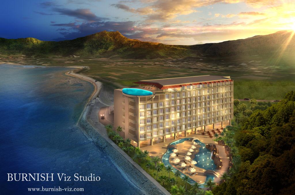 ホテル CG パース rendering Architecture interior