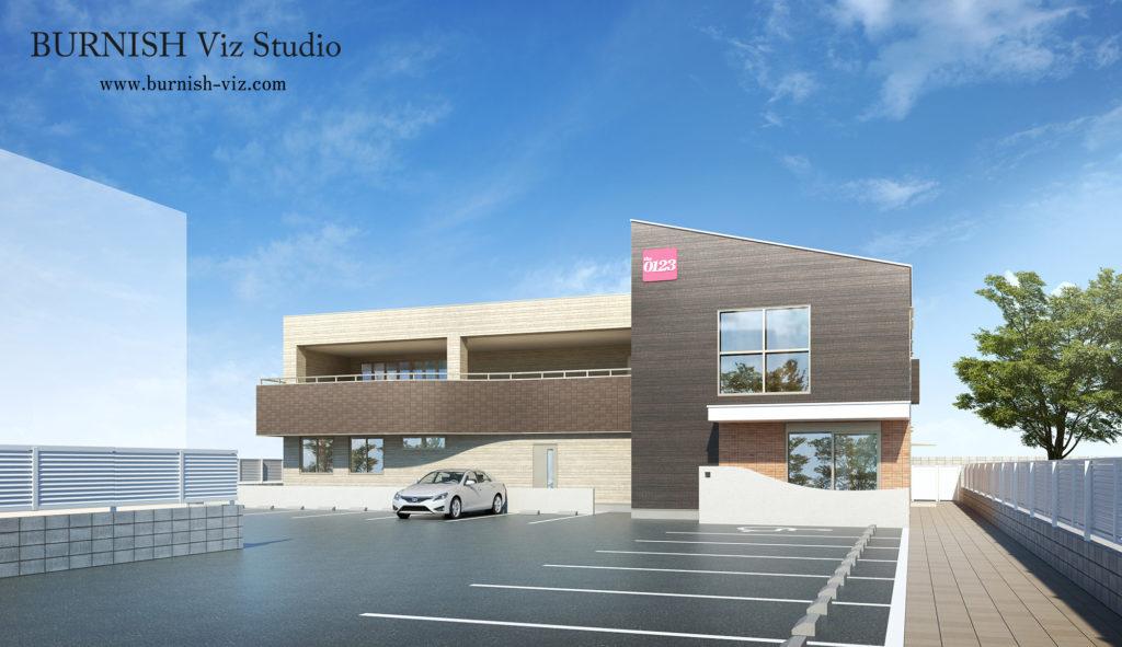 商業施設 CG パース rendering Architecture interior