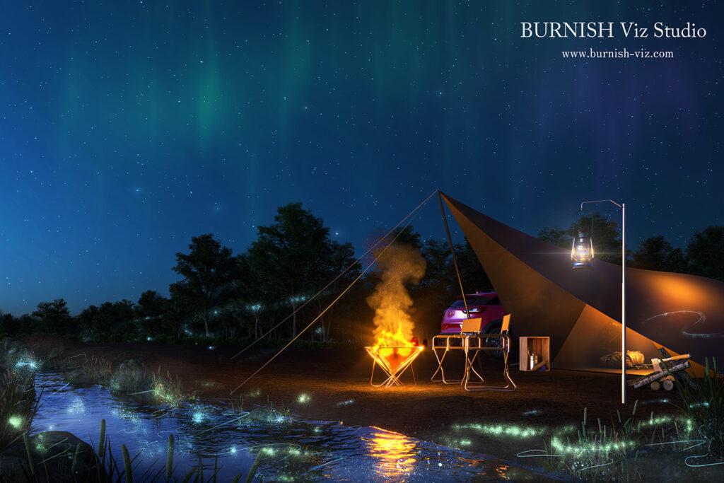 キャンプ CG