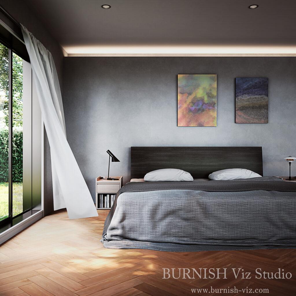 インテリア CG パース ベッド rendering Architecture interior