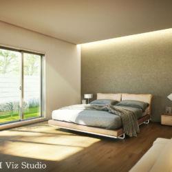 インテリア建築パース ベッドルーム