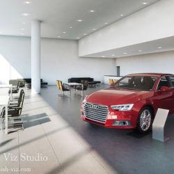 Audi店舗建築パース