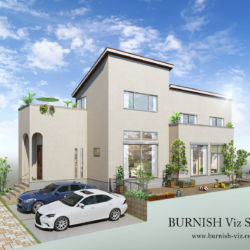 戸建て建築CGパース | BURNISH Viz Studio